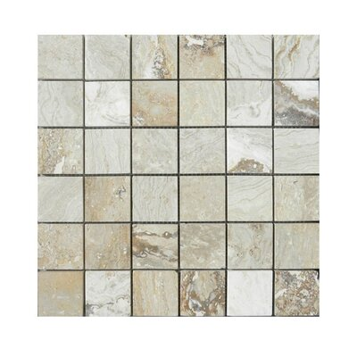 Honed 2 x 2 Natural Stone Mosaic Tile in Beige