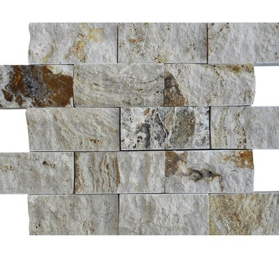 2 x 4 Natural Stone Mosaic Splitface Tile in Gray
