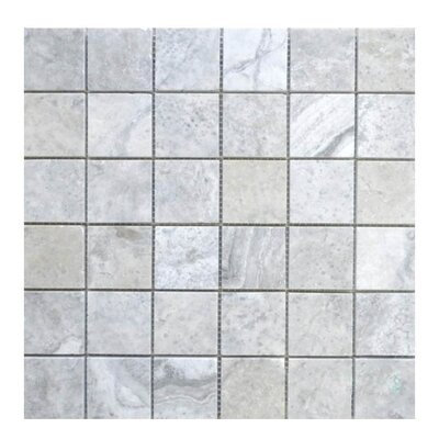 Honed 2 x 2 Natural Stone Mosaic Tile in Silver