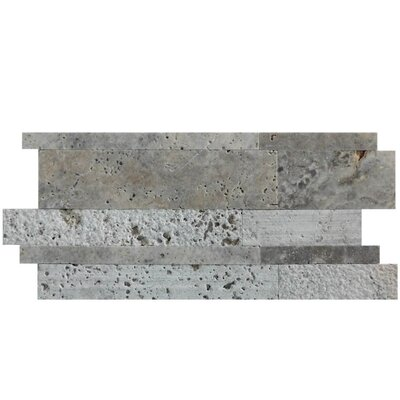 Salix 12 x 12 Natural Stone Mosaic Tile in Silver