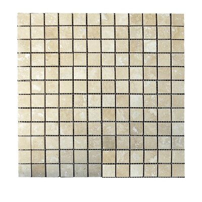 Honed 1 x 1 Natural Stone Mosaic Tile in Walnut