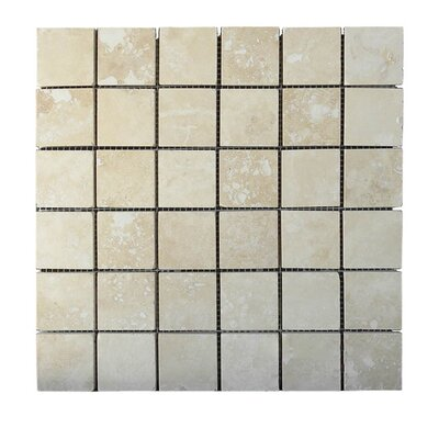 Honed 2 x 2 Natural Stone Mosaic Tile in Walnut