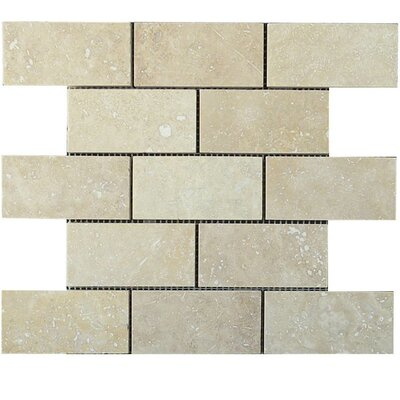 Honed 2 x 4 Natural Stone Mosaic Tile in Walnut
