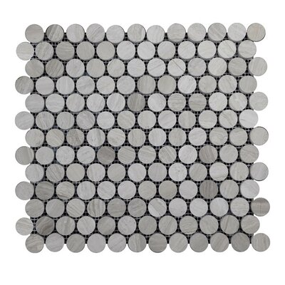 Honed Natural Stone Mosaic Tile in Gray