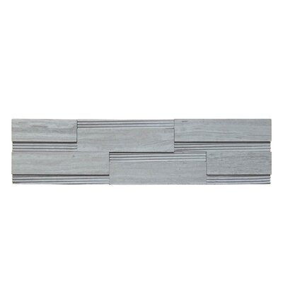 Wall Panel Polished Natural Stone Mosaic Tile in Gray