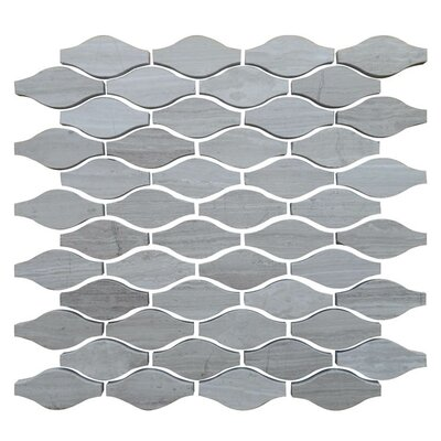 Drops 12 x 12 Natural Stone Mosaic Tile in Gray
