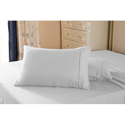 1800 Series Double Brushed Microfiber Pillowcase Color: Ivory, Size: Queen