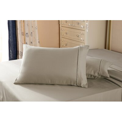 1800 Series Double Brushed Microfiber Pillowcase Color: Taupe, Size: Queen