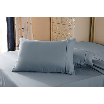 1800 Series Double Brushed Microfiber Pillowcase Color: Gray, Size: Queen