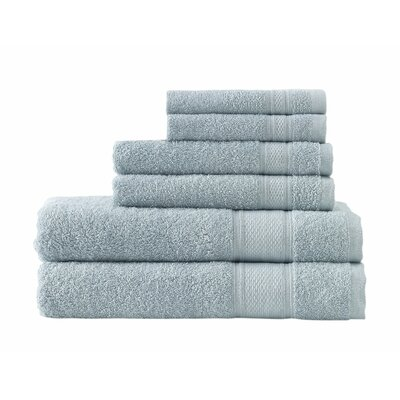 Kinderhook Turkish Traditional 6 Piece Towel Set Color: Sea Blue