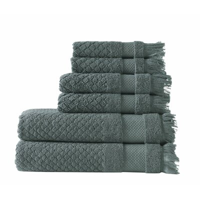 Omeara 6 Piece Towel Set Color: Green