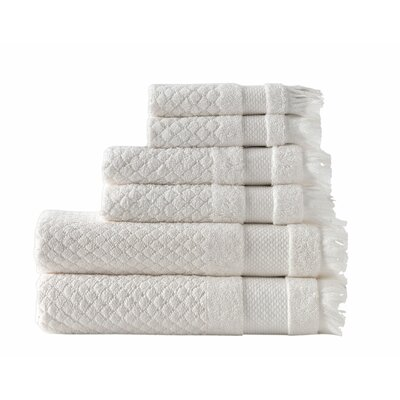 Omeara 6 Piece Towel Set Color: Ivory
