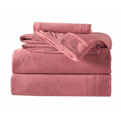 100% Cotton 4 Piece Sheet Set Color: Red, Size: Twin XL