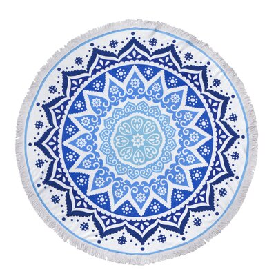 Garza Digital Printed Round Cotton Beach Towel