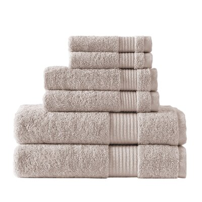 Leo Turkish Cloud Loft High Absorbency 6 Piece Towel Set Color: Beige