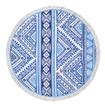 Garza Digital Printed Geometric Round Beach Towel