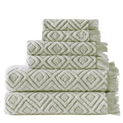Omalley 6 Piece Cotton Towel Set Color: Teal