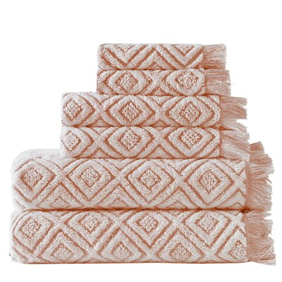 Omalley 6 Piece Cotton Towel Set Color: Coral