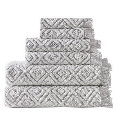 Omalley 6 Piece Cotton Towel Set Color: Beige