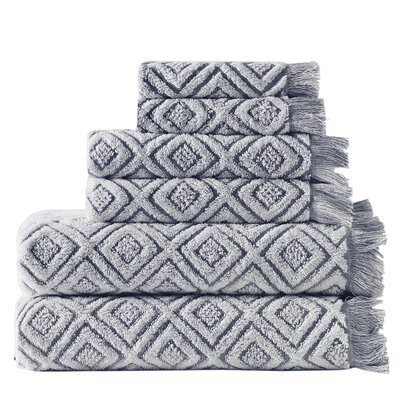 Omalley 6 Piece Cotton Towel Set Color: Dark Gray