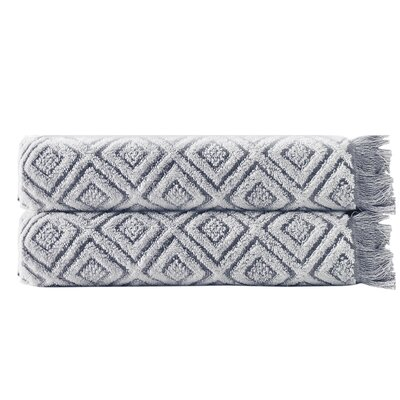 Omalley Cotton Bath Sheet Color: Dark Gray