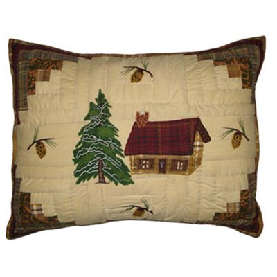Forest Log Cabin Pillow Sham
