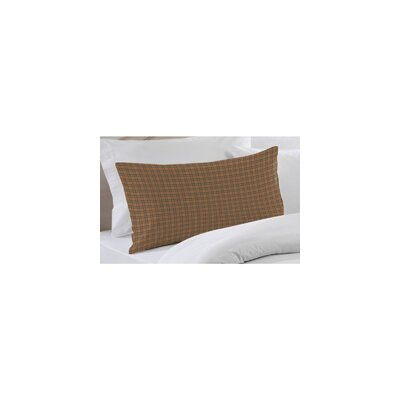 Dark Brown Plaid Pillow Sham