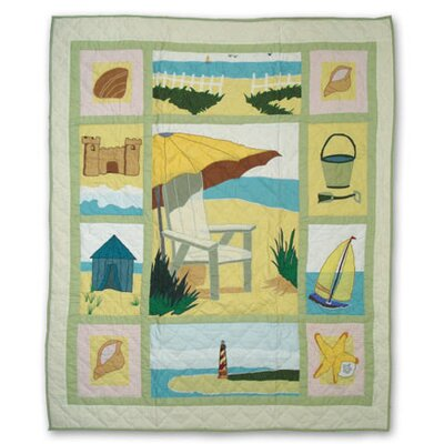 Patch Magic Ocean View Cotton Throw Quilt