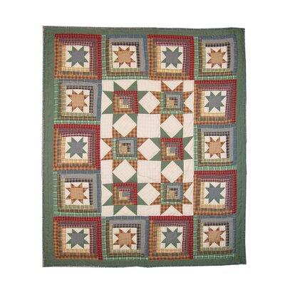 Cottage Star Cotton Throw Quilt