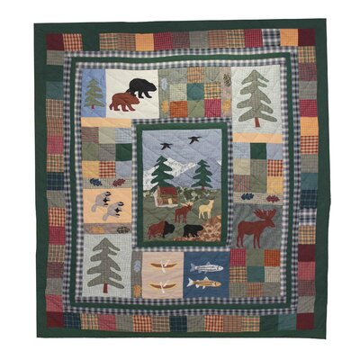 Northwoods Walk Quilt Size: Full / Queen