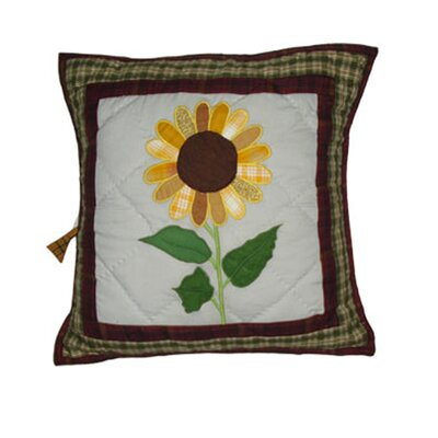 Sun Burst Cotton Throw Pillow