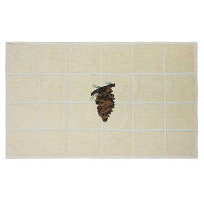 Pinecone Bath Mat