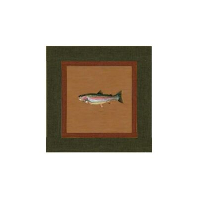 Fish Trail Cotton Throw Pillow