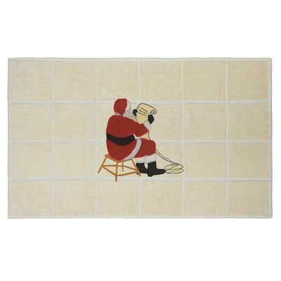 Ocean View Santa By The Fireside Bath Mat