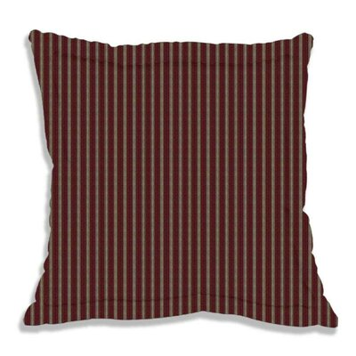 Deep Red with Tan Stripes Euro Sham