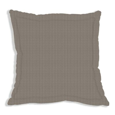 Brown and White Plaid Euro Sham