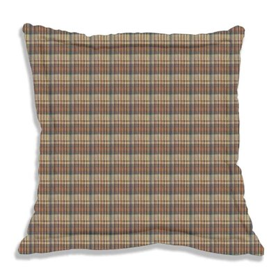 Tan and Gold Rustic Check Fabric Sham