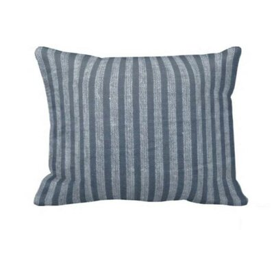 Blue and Horizontal White Stripes Pillow Sham