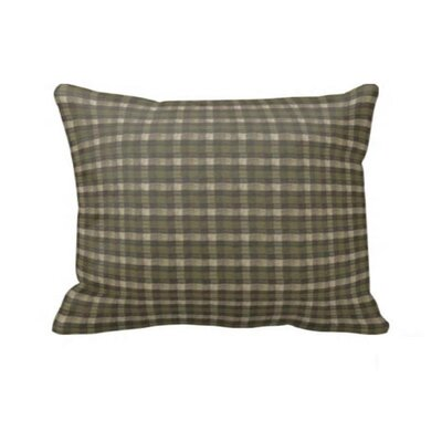 Green Forest - Checks with Ecru Pillow Sham