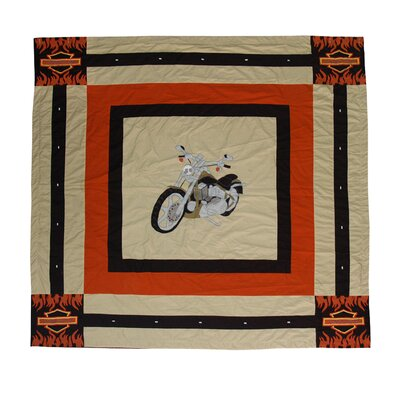 Motor Cycle Cotton Shower Curtain