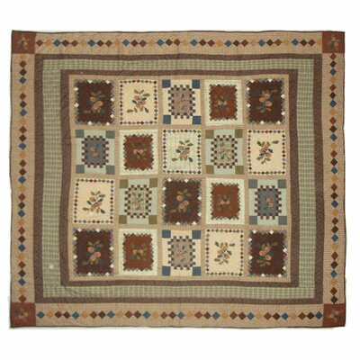 Acres of Acorns Quilt Size: King