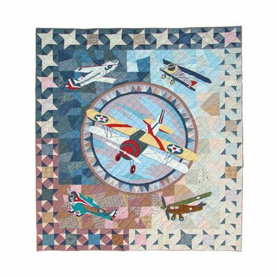 Airplane Quilt Size: King