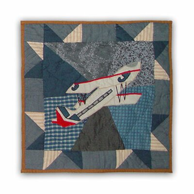 Airplane Cotton Throw Pillow