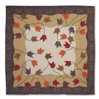 Autumn Leaves Cotton Shower Curtain