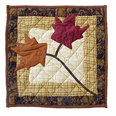 Autumn Leaves Cotton Throw Pillow