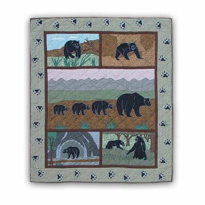 Bear Country Cotton Throw Quilt
