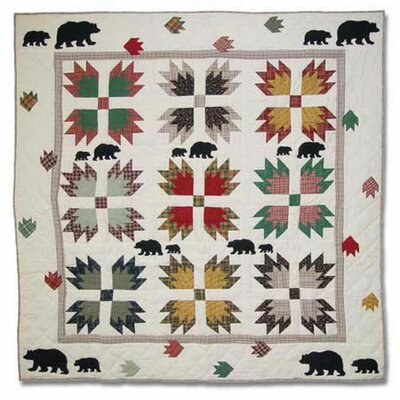 Bears Paw Cotton Throw Quilt