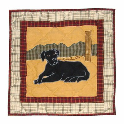 Lab Cotton Throw Pillow