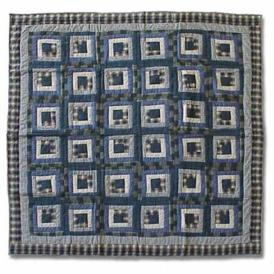 Blue Log Cabin Quilt Size: Full / Queen