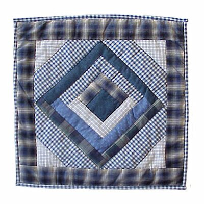 Log Cabin Toss Cotton Throw Pillow